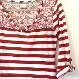 ANTHROPOLOGIE | Postmark Red Striped Blouse M